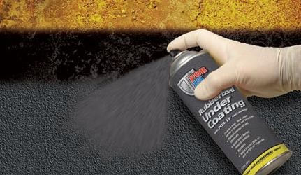 Rubber spray coating